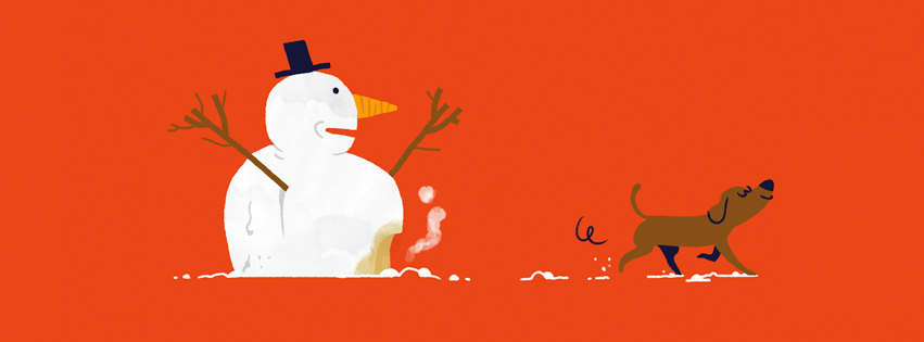 snowman+dog